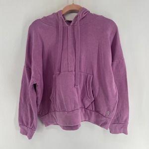 Free People Purple Oversized Hooded Sweatshirt